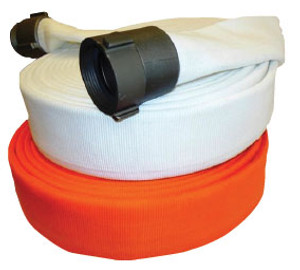Superior Fire Hose 800# Double Jacket Municipal Fire Hose w/ Aluminum NPSH Rocker Lug Couplings