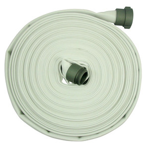 Fire/Mill 2 1/2 in. 300# Single Jacket Fire Hose w/ Aluminum NH (NST) Couplings