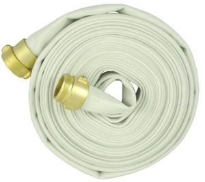 2 1/2 in. Double Jacket Fire Hose Assembly w/ Brass NPSH Couplings
