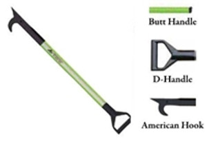 Leatherhead Tools 4 ft. Dog-Bone American Hook w/D-Handle - Lime