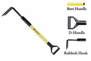 Leatherhead Tools 3 ft. Dog-Bone Rubbish Hook w/D-Handle - Yellow
