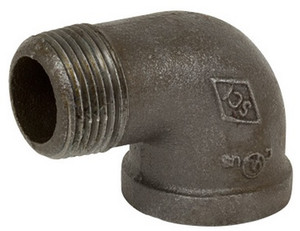 Smith Cooper 150# Black Malleable Iron 3/8 in. 90° Street Elbow Pipe Fittings - Threaded