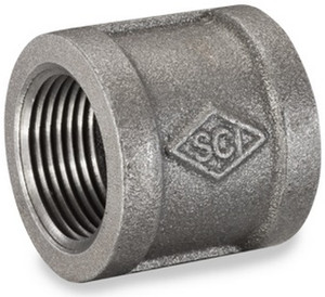 Smith Cooper 150# Black Malleable Iron 1 in. Banded Coupling Pipe Fittings - Threaded