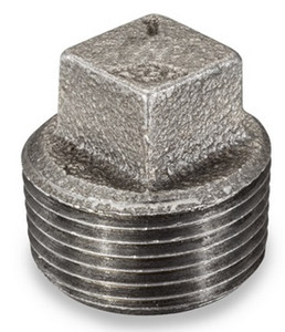 Smith Cooper 150# Black Malleable Iron 3/8 in. Square Head Plug Pipe Fittings - Threaded