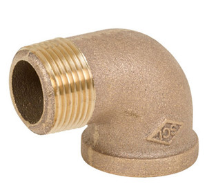 Smith Cooper 125# Bronze Lead-Free 3/4 in. 90° Street Elbow Fitting - Threaded