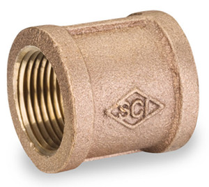 Smith Cooper 125# Bronze Lead Free 3/8 in. Coupling Fitting - Threaded