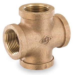Smith Cooper 125# Bronze Lead-Free 1 in. Cross Fitting - Threaded