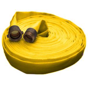 Key Fire Hose 1 1/2 in. Single Jacket Forestry 187 w/ NH (NST) Brass Couplings
