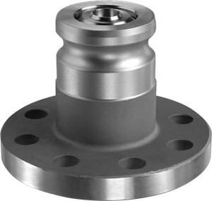 OPW 1600ANF Series Stainless Steel Kamvalok Railcar Male Adapter x 150 lb Flange - Viton Seals