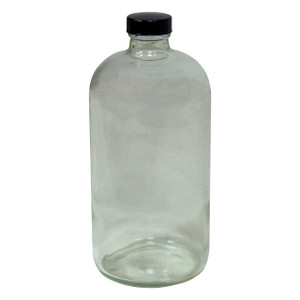 HAZMATPAC 32 oz. Boston Round Glass Bottles w/ PVC Coating