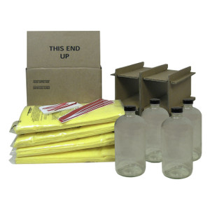 HAZMATPAC Four 32 oz. Bottles w/ PVC Coating Packaging System