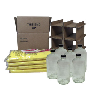 HAZMATPAC Six 32 oz. Bottles w/ PVC Coating Packaging System