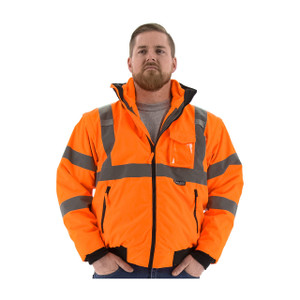 Majestic HI-VIS ANSI 3 Tall Orange Transformer 8 in 1 Bomber Jacket