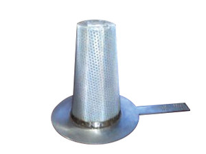 CDR 4 in. Carbon Steel Temporary Basket Strainer w/ Perf and Mesh
