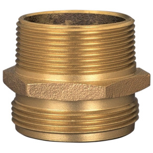 Dixon Brass 1 1/2 in. NPT x 1 1/2 in. NH Male to Male Hex Nipples