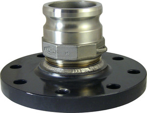 6 in. Carbon Steel 150# Raised Face Flange x 4 in. Male Adapter