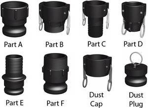 3/4 in. Easy Seal Polypropylene Camlock Couplings
