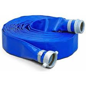 Kuriyama Vinylflow Premium PVC Water Discharge Hose w/ Pin Lug Couplings
