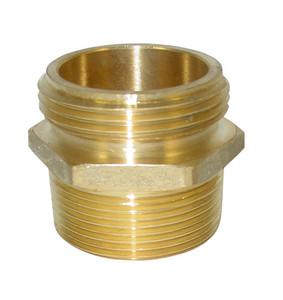 JME 1 1/2 in.NH x 1 1/2 in. NPT Brass Double Male Hex Adapters