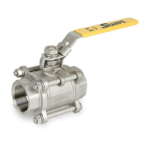 Sharpe 1000 WOG Full Port 3-Piece 316 Stainless Steel Ball Valve - Threaded