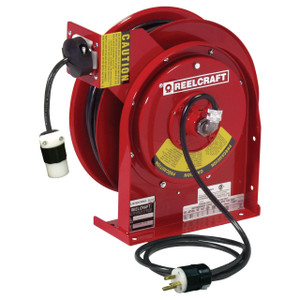 Reelcraft  Heavy Duty Power Cord Reel - Single Receptacle