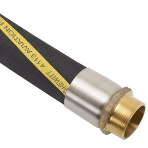 Hewitt 4113 1 1/2 in. Aviation Fueling Hose w/ MxM NPT Ends