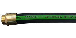 Continental ContiTech 1 in. AEROPAL Type C-CT Low Temp Aviation Fueling Hose Assemblies w/ Brass NPT Ends