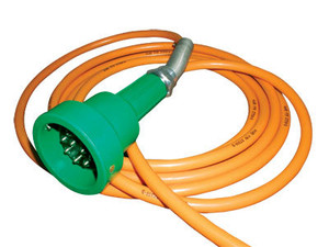 Scully Green Thermistor Plug & Straight Cord w/ 2 J-Slot Pins & 8 Contact Pins for 30 ft. Scully System