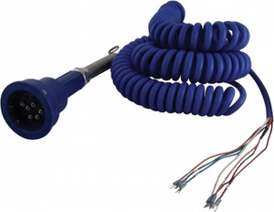 Scully Blue Optic Plug & Coiled Cord w/ 3 J-Slot Pins & 6 Contact Pins for Scully Systems