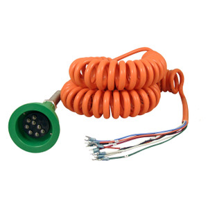 Civacon Green Thermistor Plug & Coiled Cord w/ 2 J-Slot Pins & 8 Contact Pins for Civacon System