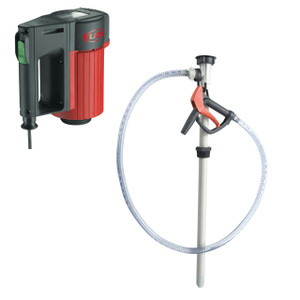 Flux Polypropylene 120V 55 Gal Drum Pump w/ Hose & Nozzle Kit - Chemicals