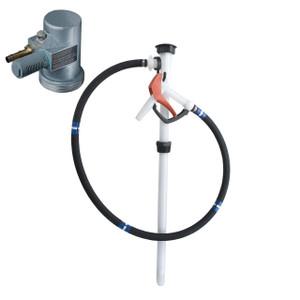 Flux PVDF Air Powered 55 Gal Drum Pump w/ Hose & Nozzle Kit - Corrosive Liquids