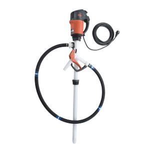 Flux PVDF 120V 55 Gal Drum Pump w/ Hose & Nozzle Kit - Corrosive Liquids
