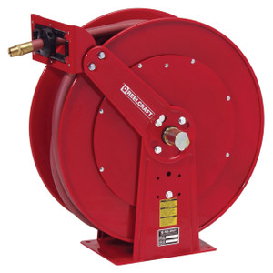 Reelcraft 80000 Series Heavy Duty Dual Pedestal Air Hose Reel with 3/4 in. x 75 ft. Hose