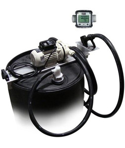 JME 12 Volt DEF Transfer System w/ Meter & Manual Nozzle for 55 Gallon Drums