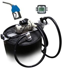 JME 12 Volt DEF Transfer System w/ Meter & Automatic Nozzle for 55 Gallon Drums