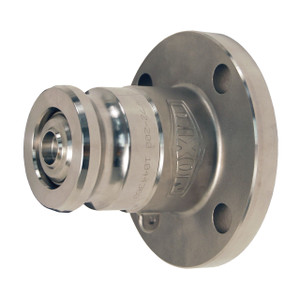 Dixon Bayloc™ Stainless Steel Dry Disconnect 2 1/2 in. Adapter x 2 in. 150# ASA Flange - PTFE Encapsulated Silicone Seal