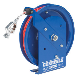 Coxreels SD Series Static Discharge Spring Driven Cable Reel w/ 100 ft. Stainles Steel Cable