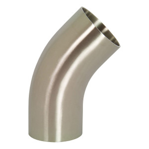 Dixon Sanitary B2KS Series Polished 316SS 45° Weld Elbows w/ Tangent