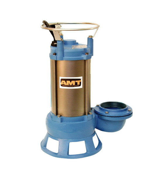 AMT Submersible Shredder Sewage Pump - 225 - 3 - 460 - 3 - 3 in.