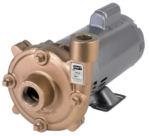 AMT Cast Bronze High Head Straight Centrifugal Pumps - A - 3/4 - 115/230-1PH - 42 - 1 1/4 in. x 1 in.