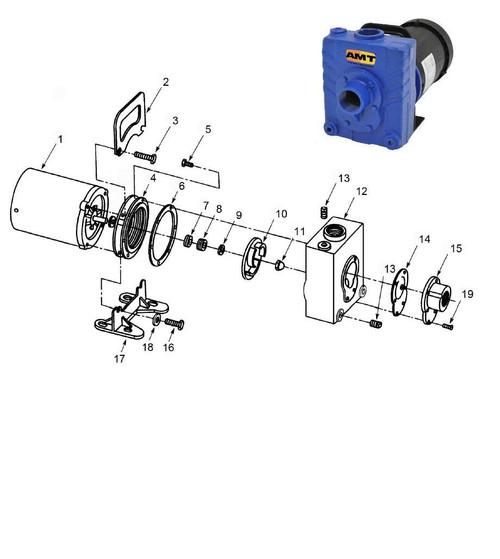 AMT/Gorman Rupp 282 Series Pump Parts - Flapper Valve - EPDM - 14