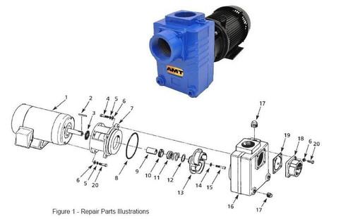 "AMT/Gorman Rupp 287 Series 3"" Centrifugal Pump Parts - Impeller Kit 5HP - 13 14 15"
