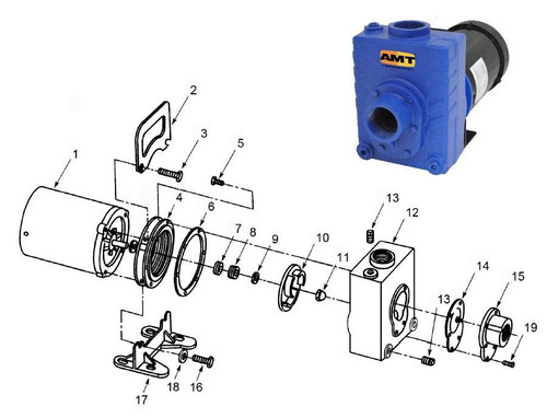 "AMT/Gorman Rupp 276 Series 2"" Centrifugal Pump Parts - Impeller 1.5HP ODP & 2HP TEFC 3PH - 10"