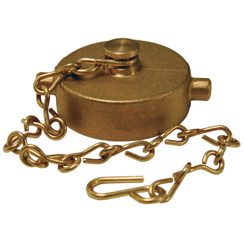 4 in. NH(NST) Dixon Brass Cap & Chain - Pin Lug