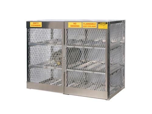 Aluminum LPG Cylinder Lockers Horizontal Storage - Twelve 20 or 33 lb - 49.5 in. x 60 in. x 32 in. - 4