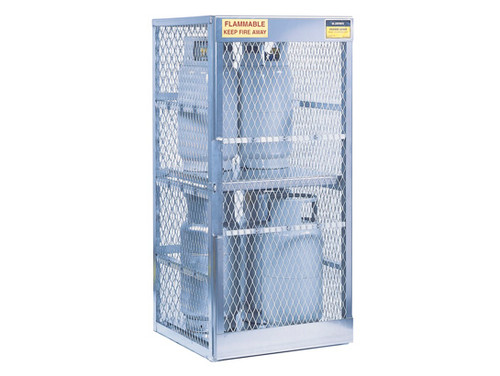 Aluminum LPG Cylinder Lockers Vertical Storage - Eight 20 or 33 lb - 65 in. x 30 in. x 32 in. - 1