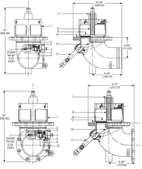 880-430 & 880-431 Emergency Valve Parts - Poppet Spring - 8