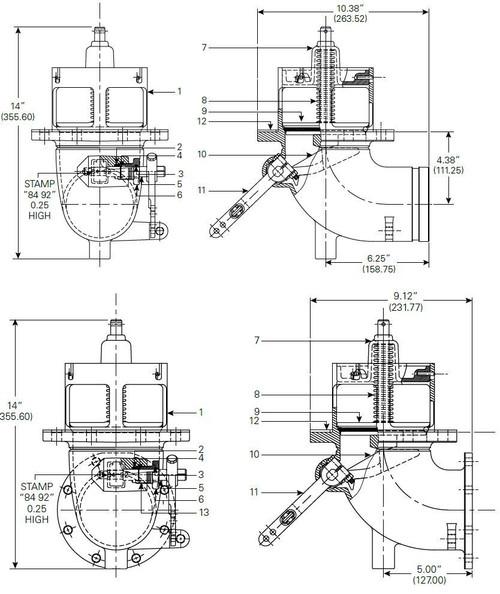 880-430 & 880-431 Emergency Valve Parts - Sump Gasket - 12