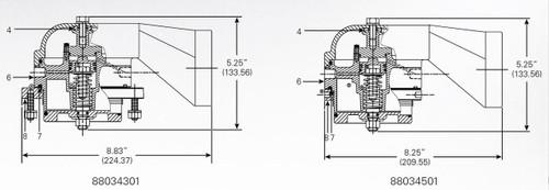 880-343-01 & 8803-45-01 Vapor Valve Parts - Valve Body Assembly - 6